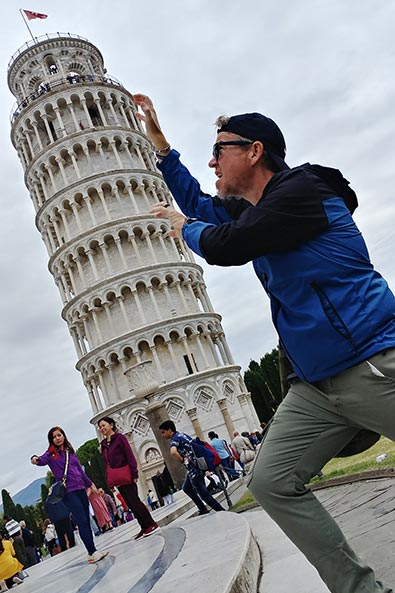Never been done before at the Leaning Tower of Pisa