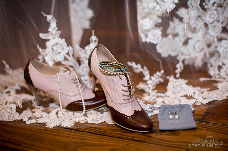 HannahShae's wedding shoes and jewelry