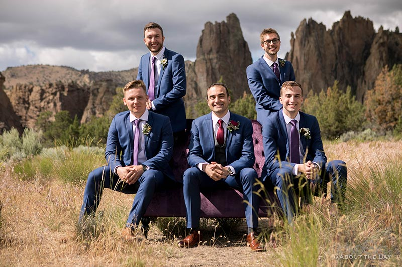 Connor and his groomsmen at Smith Rock