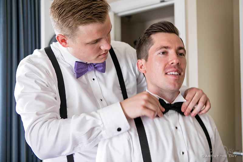 Craig get's his bow tie adjusted