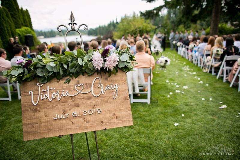Wedding ceremony at Green Gates At Flowing Lake