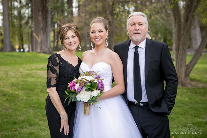 The Bride and her mom and dad