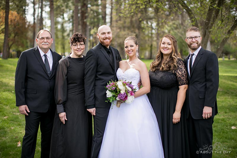 The Bride & Groom with his family