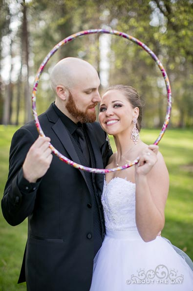 David & Elisha use a hula hoop as a frame