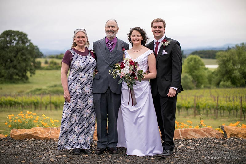 The Bride and Groom with her grandparents