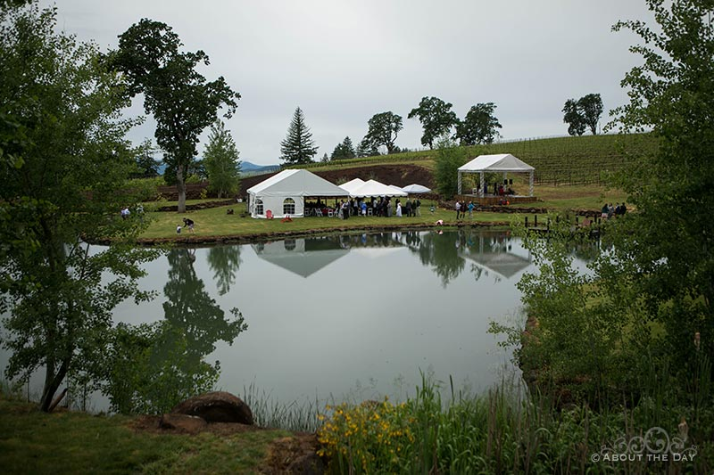 The reception site at the Legacy Estate Vineyard
