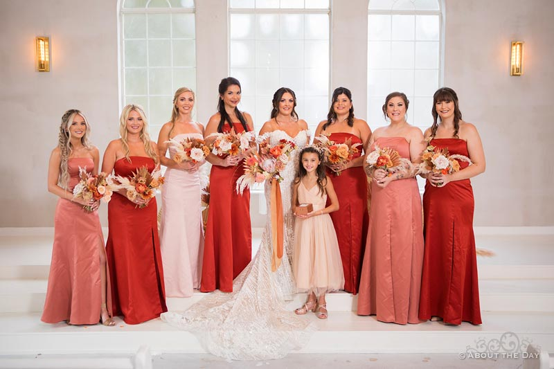 Kacie and her bridesmaids