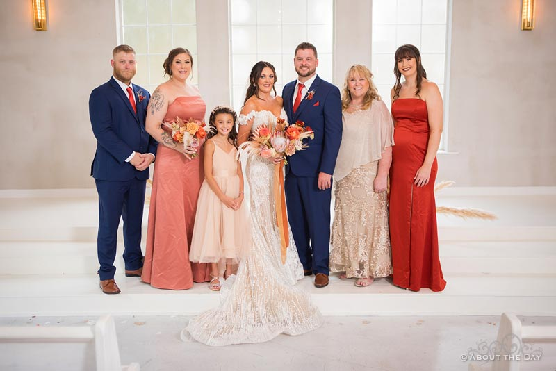 Bride and Groom with her family
